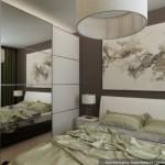 5-dulap tip dressing cu usa din oglinda amenajare dormitor alb modern 12 mp