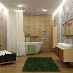 5-elemente decorative din lemn bambus si piatra naturala interior baie moderna Feng Shui