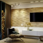 5-exemplu placare perete living cu panouri lemn 3D UltraWood Teak