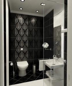 5-faianta cu imprimeu decorativ pentru accentuarea zonelor de itneres din baie