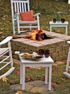 5-foc de tabara decorativ gradina