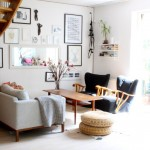 5-fotolii negre decor casa amenajata in stil scandinav