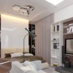 5-garsoniera 36 mp amenajare open space cu dormitor si bucatarie