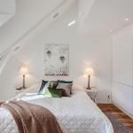 5-idei amenajare dormitor mic alb mansarda