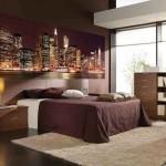 5-imagine oras luminat noaptea fototapet decor dormitor modern