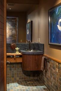 5-lavoar de colt montat pe o masca suspendatape perete amenajare baie