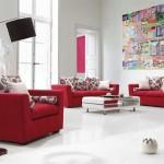 5-living alb modern si spatios cu canapele rosii