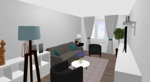5-living apartament Aida privit de la intrare