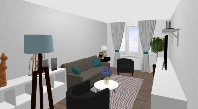 5-living apartament Aida privit de la intrare