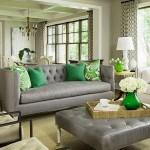 5-living clasic canapea gri asorata cu accesorii verde smarald