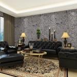 5-living cu accente clasice finisat cu tapet lichid decorativ
