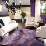5-living design modern mobila alba pereti lila violet