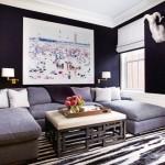 5-living mare bleumarin cu canapea pe 3 laturi