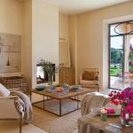 5-living mic cu semineu casa traditionala Mallorca Spania
