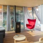 5-living modern mic cu soba pe peleti casa plutitoare Floatwing