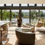 5-living open space casa Amfibie de pe malul raului Marea Britanie