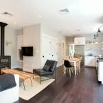 5-living si bucatarie open space amenajate in stil scandinav casa 90 mp