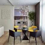 5-loc de luat masa cu vedere spre bucatarie moderna mica