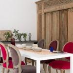 5-loc de luat masa minimalist cu accente maure mobilier din lemn sculptat