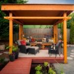 5-loc de relaxare intr-un mic foisor de forma cubica de gradina