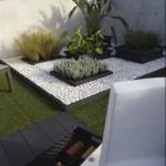 5-marmura alba rotunjita amenajare gradina stil minimalist