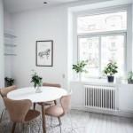 5-masa rotunda bucatarie mica apartament