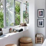 5-mic birou amenajat la fereastra apartamentului
