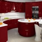 5-mobila bucatarie rosu cu alb design modern