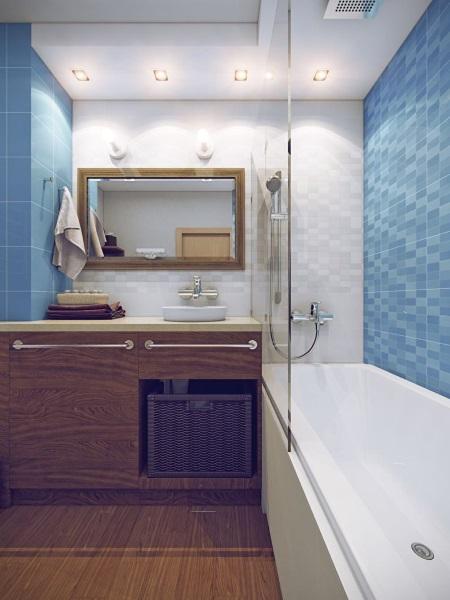 5-mobila lemn amenajare baie mica apartament idei 2019