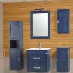 5-mobila lemn masiv baie Savini Due Ambra Blue magazin Comstal