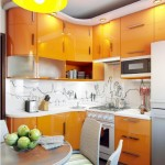 5-mobila portocalie amenajare bucatarie mica