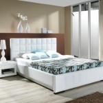 5-mobilier alb si pereti bej amenajare dormitor modern simplu