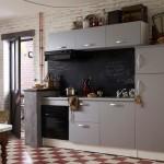 5-mobilier modern compact culoare gri pentru bucatarie tinereasca mica
