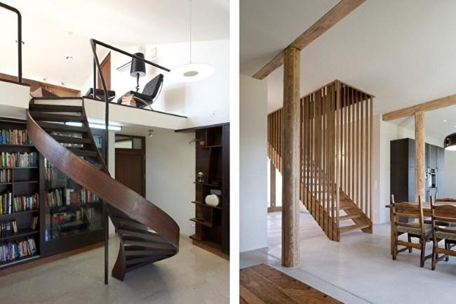 5-modele scari interioare din lemn desig modern