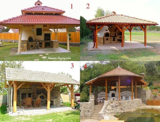 5-modele si idei de bucatarii de vara acoperite construite in curte