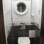 5-montare masina de spalat in nisa din peretele din spatele vasului de toaleta