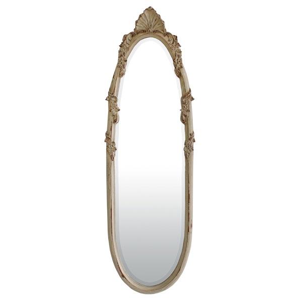 5-oglinda Portsmith din lemn masiv sculptat si vopsit in alb antichizat magazin Mobexpert