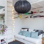 5-pat construit deasupra canapelei din living garsoniera 16 mp