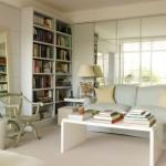 5-perete cu oglinzi amenajare living mic cu mobila alba