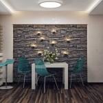 5-perete din dreptul locului de luat masa din bcuatarie placat cu piatra naturala