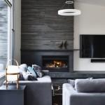 5-perete living cu semineu cu foc de lemne