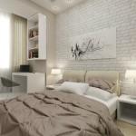 5-perete placat cu caramida aparenta alba decor dormitor design Maria Grom
