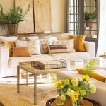 5-pernute decorative colorate in nuante de galben si maro decor living