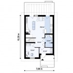 5-plan parter casa mica cu mansarda suprafata 110 mp