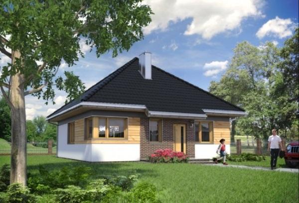 proiect casa forma patrata 2 dormitoare