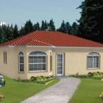 5-proiect casa stil Mediteranean doar parter 72 mp
