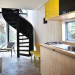 5-scara interioara spirala si bucatarie casa minimalista conditii meteo extreme