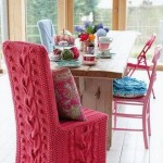 5-scaun vechi imbracat in husa noua crosetata