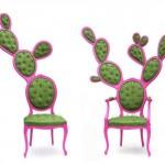 5-scaune design inedit in forma de cactus creatie Valentina Gonzalez