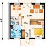 5-schita compartimentare interioara casa mica doar parter de 46 mp